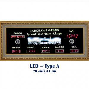 Jadwal Sholat Digital, Jam Shalat Digital, LED Type A
