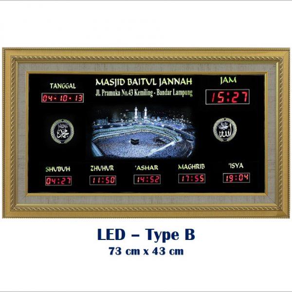 Jadwal Sholat Digital, Jam Shalat Digital, LED Type B