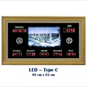 Jadwal Sholat Digital, Jam Shalat Digital, LED Type C