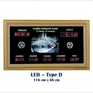 Jadwal Sholat Digital, Jam Shalat Digital, LED Type D