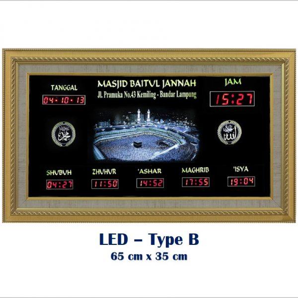 Jadwal Sholat Digital, Jam Shalat Masjid,LED Type B Metalik, LED Type B