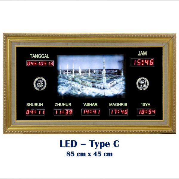 Jadwal Sholat Digital, Jam Shalat Masjid,LED Type C Metalik