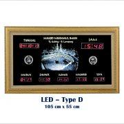 Jadwal Sholat Digital, Jam Shalat Masjid,LED Type D Metalik, LED Type D
