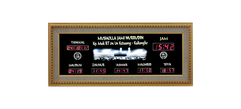 Produksi Jam digital masjid, jadwal sholat masjid murah