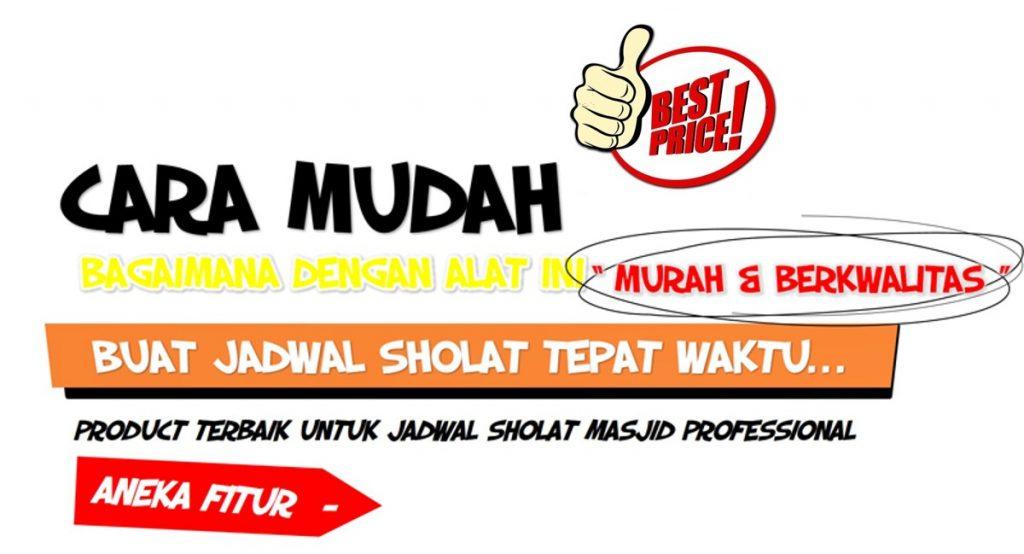 Jual jadwal shalat digital masjid, pusat jadwal sholat, Produsen jadual jam sholat digital, Led Bandung, Jam Harga murah